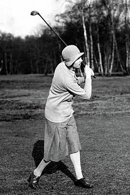Cloche Hat Photograph - Golfer Joyce Wethered by Wide World Photos