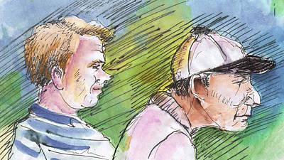Golfers In Soufflenheim 01 Art Print by Miki De Goodaboom
