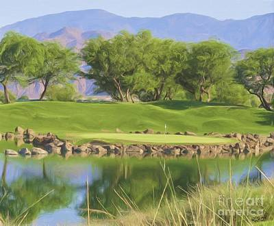Desert Island Digital Art - Golfers Lament - Alcatraz by L J Oakes