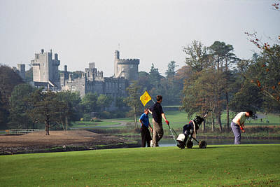 Golfing At Dromoland Castle Art Print by Carl Purcell