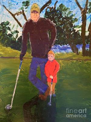 Art Print featuring the painting Golfing by Donald J Ryker III