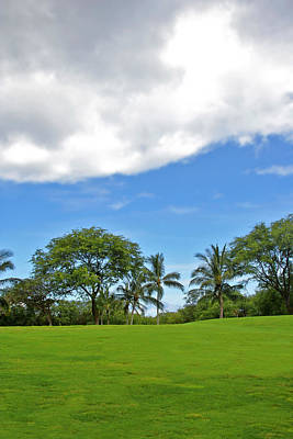 Photograph - Golfing Greens Under Blue Sky And Clouds by John Orsbun