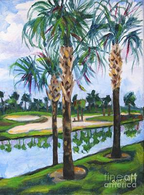 Painting - Golfing In Florida by Jan Bennicoff
