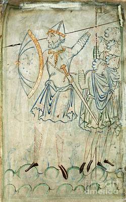 Goliath In Battle, 11th-century Artwork Print by British Library