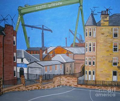 Scotland Painting - Goliath Port Glasgow by Neal Crossan