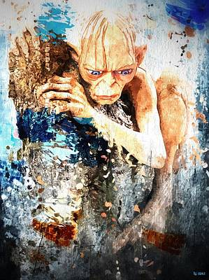 Bilbo Painting - Gollum - Smeagol by Daniel Janda