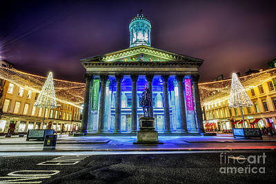 Goma Glasgow Lit Up Art Print by John Farnan