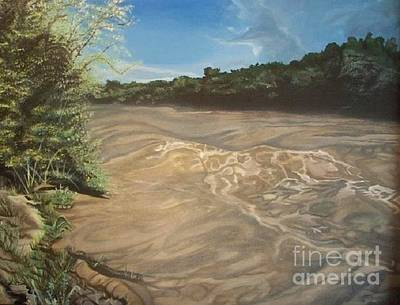 Yvonne Cacy Painting - Gomez Farm San Juan River by Yvonne Cacy