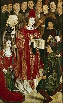 Gon�alves, Nuno 1411-1471. Altarpiece Art Print by Everett