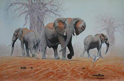 Baobab Painting - Gonarezhou Giants by Barry  Thomas