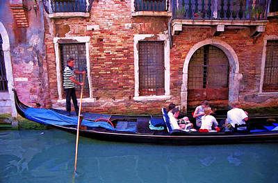 Art Print featuring the photograph Gondola 4 by Allen Beatty