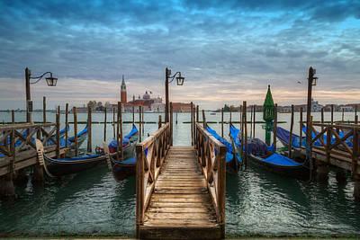 Venice Photograph - Gondola Dock by Timothy Denehy