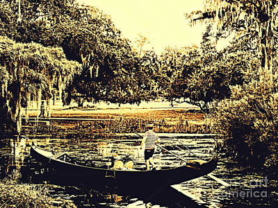 Photograph - Gondola Hauntings In City Park New Orleans Louisiana 4 by Michael Hoard