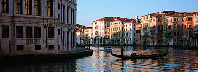 Gondola In A Canal, Grand Canal Art Print