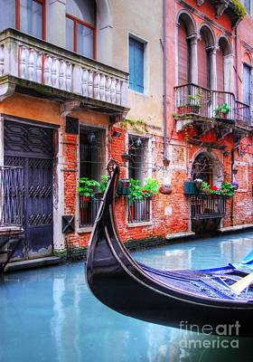 Photograph - Gondola In Venice 2 by Mel Steinhauer
