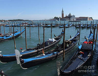 Photograph - Gondola's - Grand Canal - Venice by Phil Banks