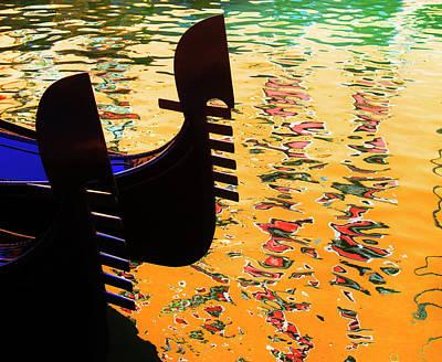 Photograph - Gondola On Canal by Grant Faint