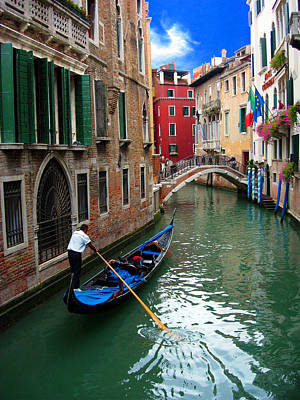Photograph - Gondola On Venice Canal by Sandra Selle Rodriguez