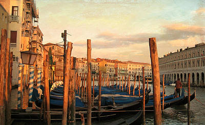 Gondola Parking Lot 2 Art Print