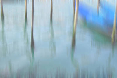 Impressionism Photos - Gondola poles by Marion Galt