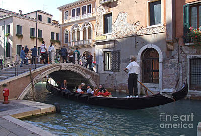 Photograph - Gondola Ride - Venice - Italy by Phil Banks