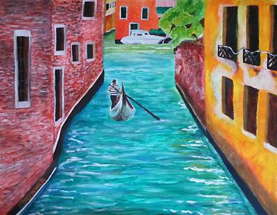 Painting - Gondola Time by Christy Saunders Church
