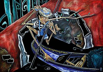 Libro Painting - Gondola Travel Venice Italy - Viaggi E Avventure Di Pinocchio Gondoliere In Italia by Arte Venezia