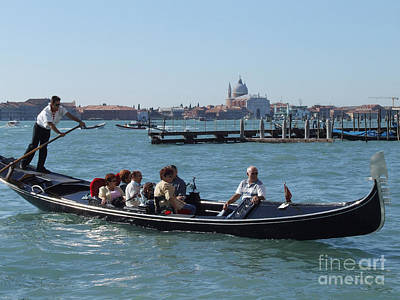 Photograph - Gondola - Venice by Phil Banks