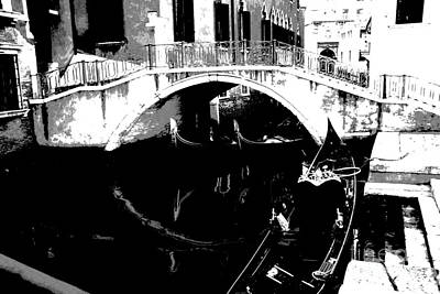 Photograph - Gondola Waiting by Jacqueline M Lewis