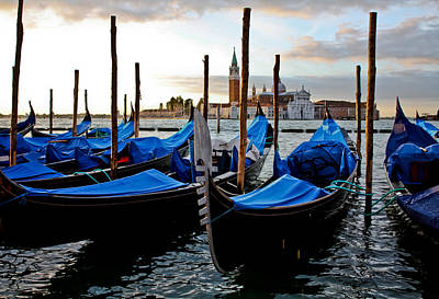 Photograph - Gondolas At Sunrise by Anthony Doudt