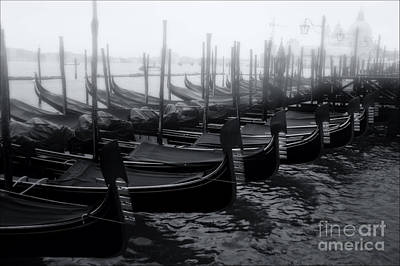 Olia Saunders Photograph - Gondolas At The Piazza San Marco Venice by Design Remix