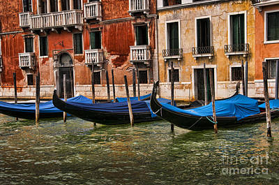 Photograph - Gondolas For Hire by Brenda Kean