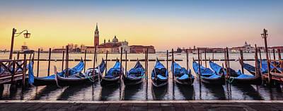Photograph - Gondolas In Front Of San Giorgio by Ed Norton