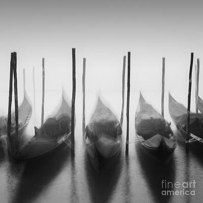 Wall Art - Photograph - Gondolas In The Fog by Maggy Morrissey