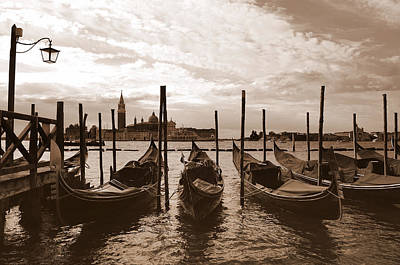 Photograph - Gondolas In Venice by Barbara Walsh