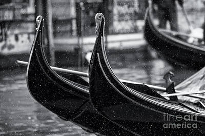 Olia Saunders Photograph - Gondolas In Venice by Design Remix