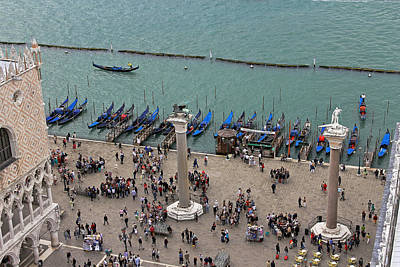 Photograph - Gondolas On Canale Di San Marco by Tony Murtagh