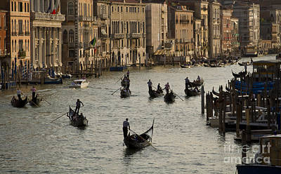 Photograph - Gondolas On The Grand Canal by Dennis Hedberg
