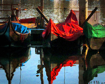 Photograph - Gondolas by Timothy Bulone