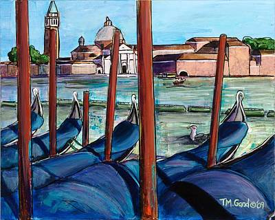Painting - Gondolas by TM Gand