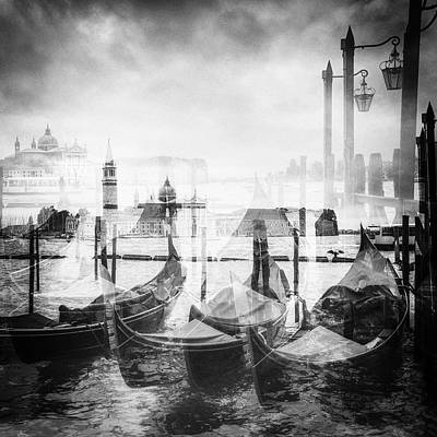 Gondolas In Venice Art Print by Balakumar Kaushik