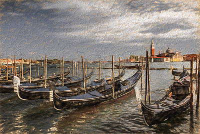 Photograph - Gondolas With Special Effect by Susan Leonard