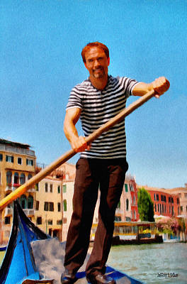 Painting - Gondolier by Jeff Kolker