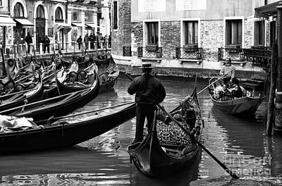 Photograph - Gondolier by John Rizzuto