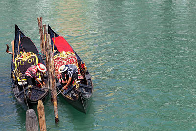 Photograph - Gondoliers by Focusstock