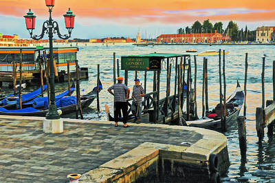 Photograph - Gondoliers by Marianne Campolongo