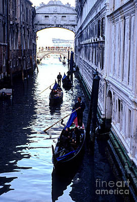 Gondoliers Venice Italy Art Print by Ryan Fox