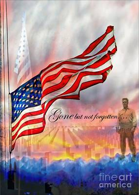 4th July Digital Art - Gone But Not Forgotten Military Memorial by Barbara Chichester