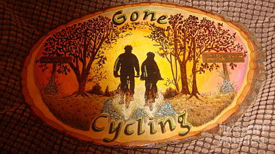 Gone Cycling Art Print by Dakota Sage