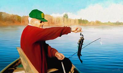 Dale Jackson Digital Art - Gone Fishing by Dale Jackson